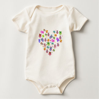 Love owls baby bodysuit