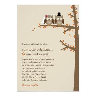 Love Owls Fall Wedding Invitation