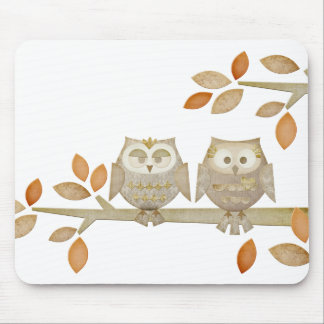 Love Owls in Tree Mousepad