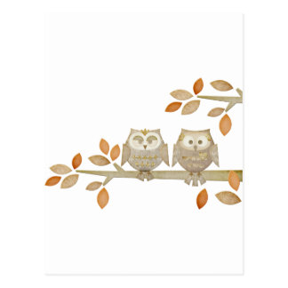 Love Owls in Tree Postcard