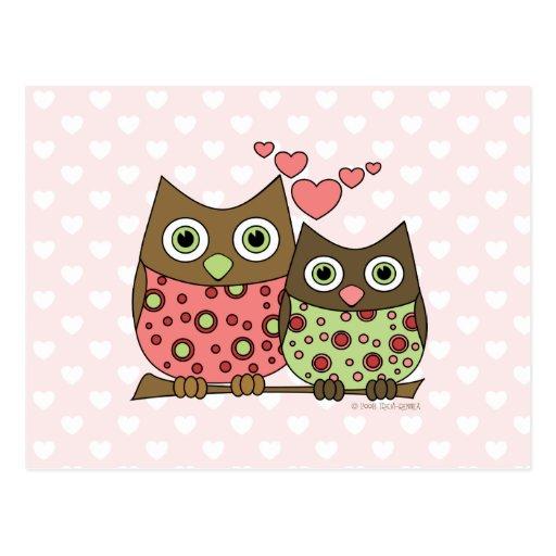 Love Owls Postcards