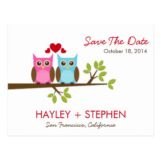 Love Owls Save The Date Card