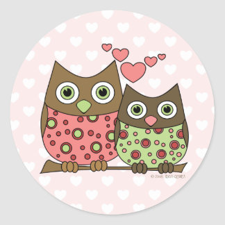 Love Owls Stickers