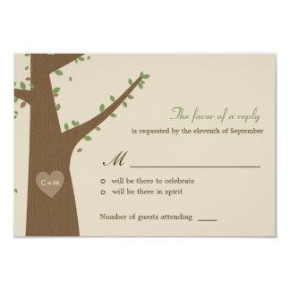 "Love Owls Wedding RSVP / Response Card 3.5"" X 5"" Invitation Card"