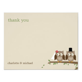 Love Owls Wedding Thank You Cards Custom Invitations