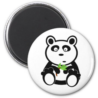 Love panda bear 6 cm round magnet