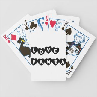 Love Panda® Bicycle Playing Cards