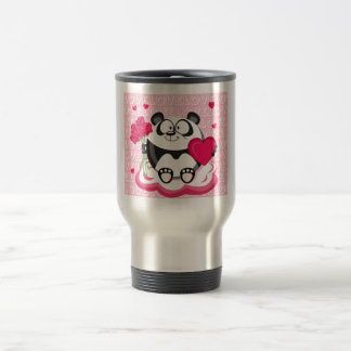 Love panda from the circle series coffee mug