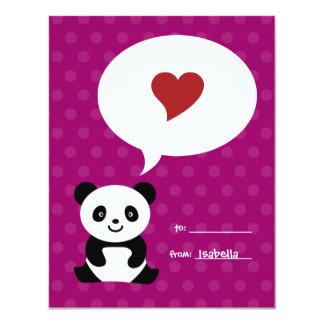 Love Panda Kids Valentine Card 11 Cm X 14 Cm Invitation Card