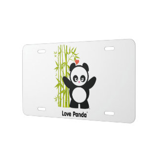 Love Panda® License Plate
