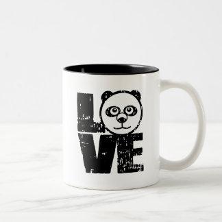 Love Panda Two-Tone Coffee Mug