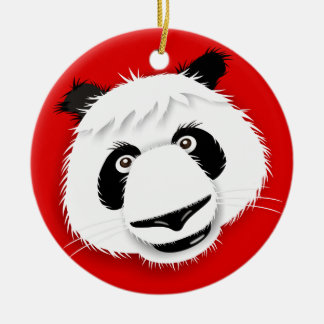 Love Panda's! Round Ceramic Decoration