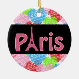 Love Paris Ceramic Ornament