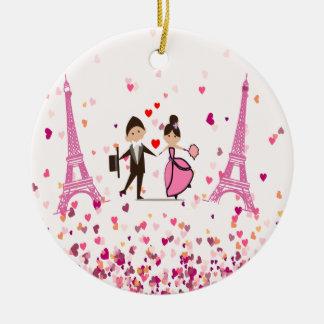 LOVE PARIS CHRISTMAS ORNAMENT