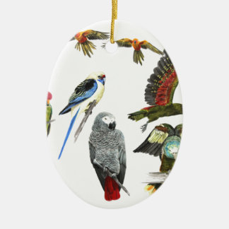 love parrots love these the 2nd in the series ceramic oval decoration