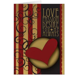 Love Passion Desire Cards
