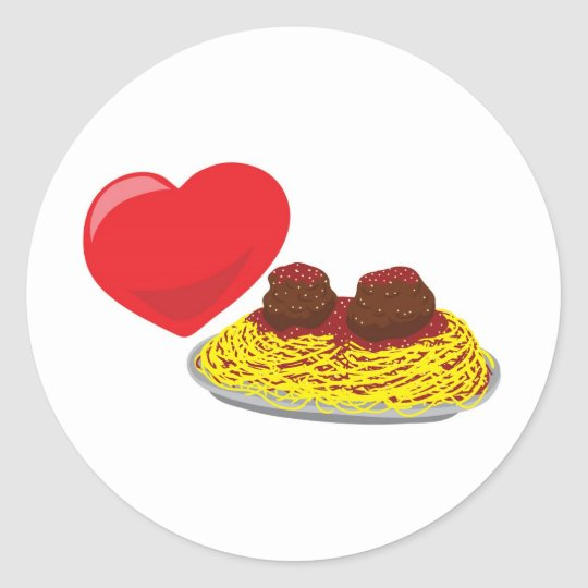 Love pasta!  Customisable: Classic Round Sticker