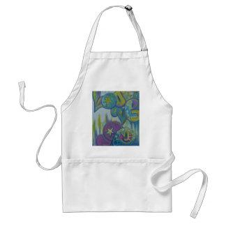 Love, pastel graffiti style standard apron