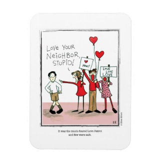 LOVE PATROL cartoon by Ellen Elliott Rectangular Photo Magnet