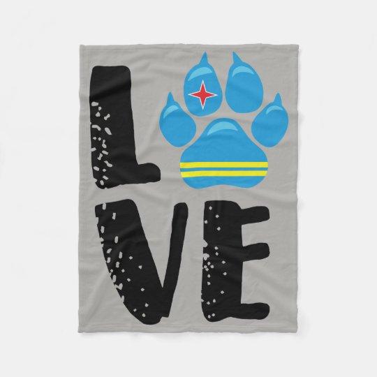LOVE PAW - BLACK Letters Fleece Blanket