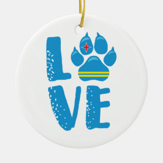 LOVE PAW (Blue letters) - Ornament