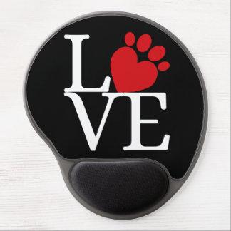 """""""LOVE"""" Paw Heart Gel Mousepad"""