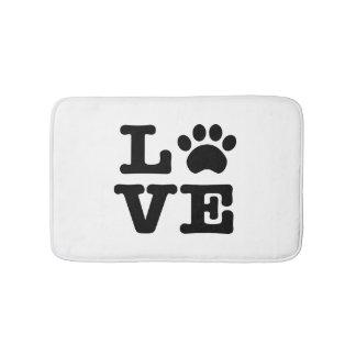 Love Paw Print Bath Mat