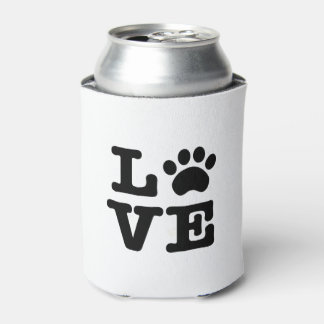 Love Paw Print Can Cooler