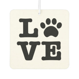 Love Paw Print Car Air Freshener
