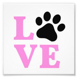 LOVE Paw Print Design Photo Print
