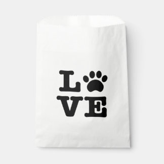 Love Paw Print Favor Bag Favour Bags