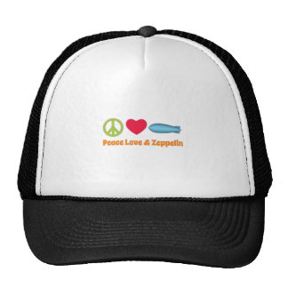 Love Peace and Zeppelin Mesh Hats