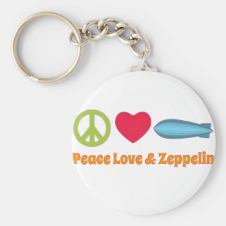 Love Peace and Zeppelin Keychain