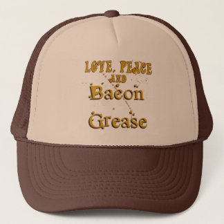 Love Peace & Bacon Grease Trucker Hat