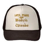 Love Peace & Bacon Grease Trucker Hat