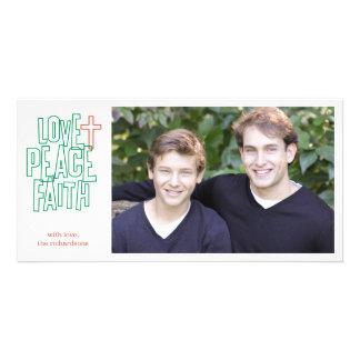 Love, Peace, Faith 1 Card