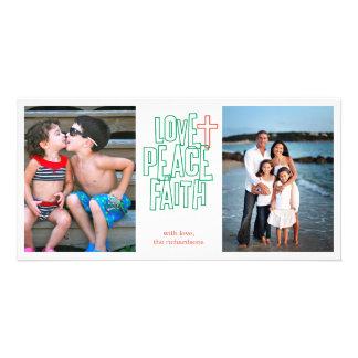Love, Peace, Faith 2 Card