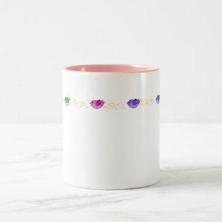 Love, Peace, Freedom & Joy Birds Two-Tone Coffee Mug