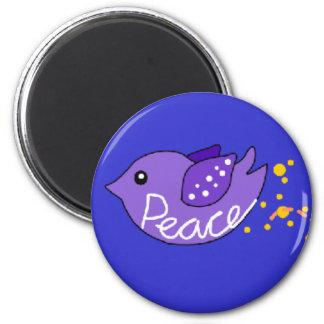 Love Peace Freedom Joy Birds Refrigerator Magnet