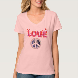 LOVE ~ Peace ~ Go Vegan ~ Watch Earthlings T-Shirt