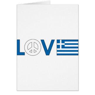 Love Peace Greece Card