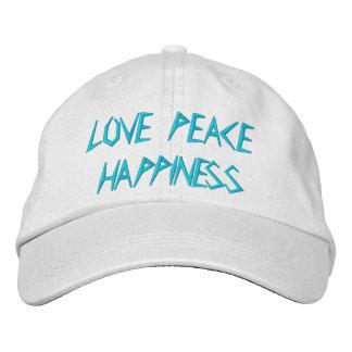 LOVE PEACE HAPPINESS BASEBALL CAP