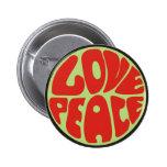 love peace Hippie Spruch 6 Cm Round Badge