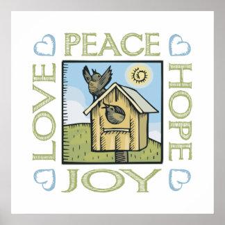 Love, Peace, Hope, Joy Poster