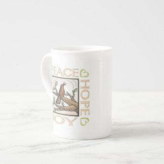 Love Peace Hope Joy Porcelain Mugs