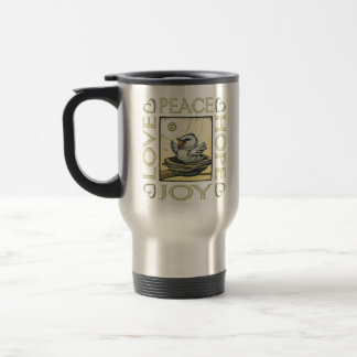 Love, Peace, Hope, Joy Stainless Steel Travel Mug