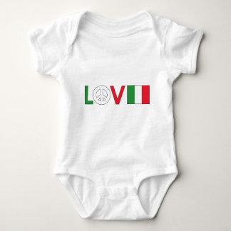 Love Peace Italy Baby Bodysuit