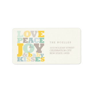 Love Peace Joy Baby Kisses First Christmas Labels