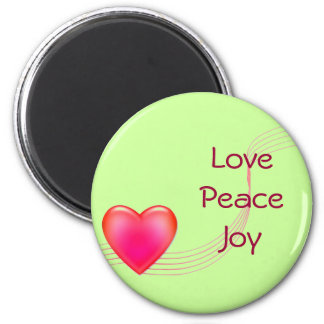 Love Peace Joy Fridge Magnet