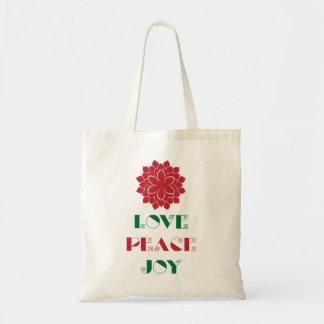 Love, Peace, Joy I Budget Tote Bag